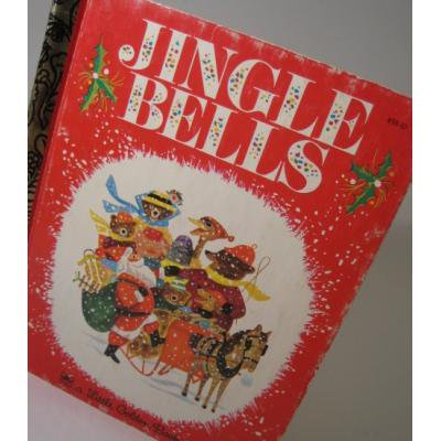 クリスマス絵本 A Little Golden Book 「Jingle Bells」絵本【B】