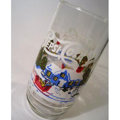 アドバタイジング・組織系 Pepsi-Cola・ペプシ・クリスマスシーズングラス【B】