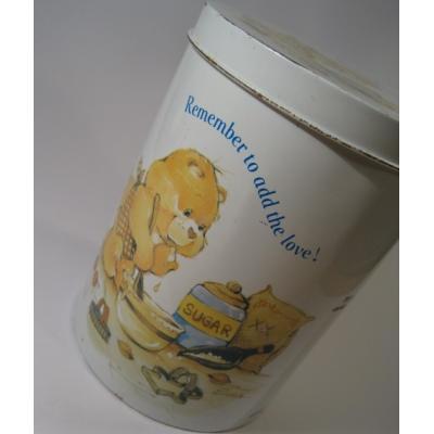 キャラクター ビンテージケアベア「ケアベア・Care Bear 」ラウンドTIN缶