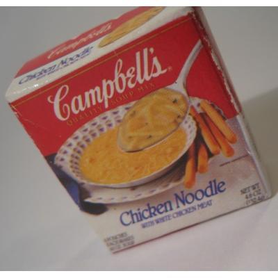 アドバタイジング・組織系 ビンテージ・広告系マグネット「1991年キャンベル・Campbell's・チキンヌードル」