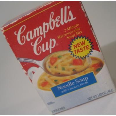 アドバタイジング・組織系 ビンテージ・広告系マグネット「1991年キャンベル・Campbell's・ヌードルスープ」