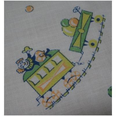 シーツ&ハンドメイド素材 ビンテージキッズ用シーツ「ピエロときりん」ボックスタイム(ゴム入りタイプ)