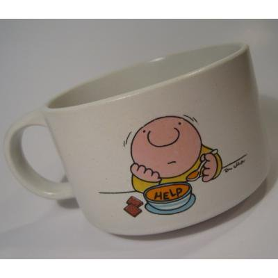 キャラクター 陶器製・Ziggy・ジギー君「HELP」スープマグ
