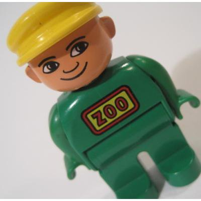 レゴ・プレイモビル・フィッシャープライスフィギュアなど ビンテージレゴフィグ「動物園の飼育員さん」