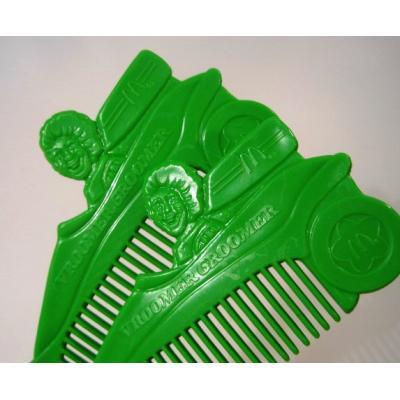ミラー&コームなどその他服飾雑貨全般 ヴィンテージ・マクドナルド・カナダ製・1989年「Vroomer Groomer・ロナルドマクドナルド」緑・キッズ用コ—ム