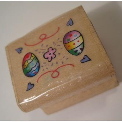 イースター ビンテージ・木製スタンプ「イースターエッグ」