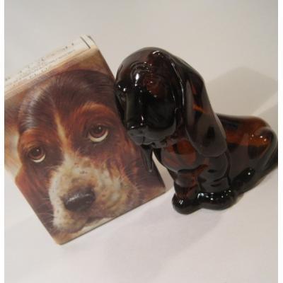 ヴィンテージ雑貨 AVON・エイボン雑貨「オリジナルボックス付・Baby Basset・バセットハウンドの子犬」