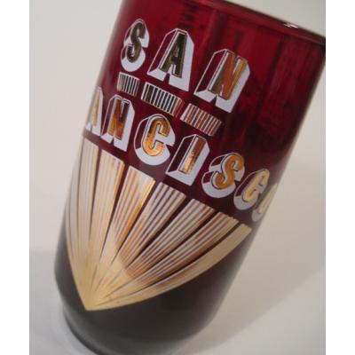 アンカーグラス・San Francisco・ロイヤルルビー・お土産グラス