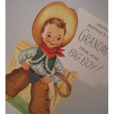 オーナメント&デコレーション ビンテージカード「使用済・Happy Mother's Day, GRANDMA」母の日用