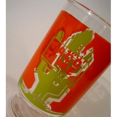 アドバタイジング・組織系 オレンジ&黄緑・TACO TIME・タコタイム販促用グラス