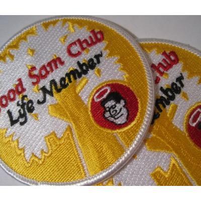 ハンドメイド用タグ&パッチ&アップリケ&ワッペン ビンテージワッペン「Good Sam Club - Life member」