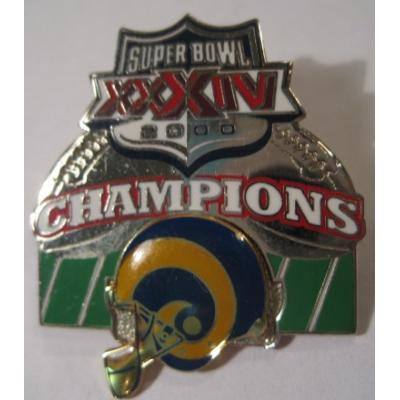アドバタイジング・組織系 ヴィンテージピンズ「スポーツピンズ ・Super Bowl XXXIV 2000 Champions・アメフト」