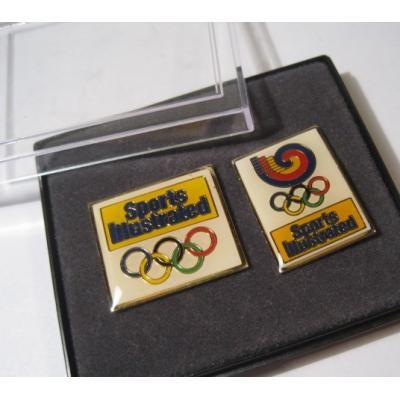 オリンピック ヴィンテージピンズ「スポーツピンズ・Sports Illustrated・オリンピック2個セット・ボックス入り 」