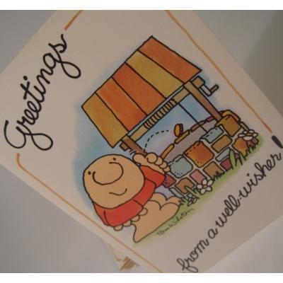 キャラクター 未使用封筒付・Ziggy・ジギー「Greetings from a well-wishers」ブランクカード・ご挨拶