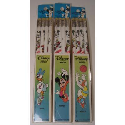 未使用未開封・ミッキーマウスと仲間たちのバスケットボールプリント鉛筆4本セット【画像2】