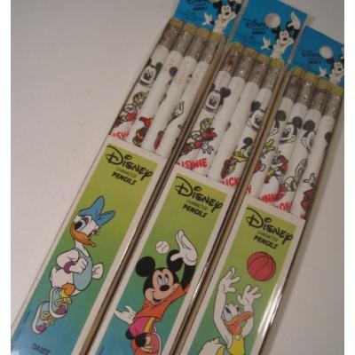 鉛筆・ペン 未使用未開封・ミッキーマウスと仲間たちのバスケットボールプリント鉛筆4本セット