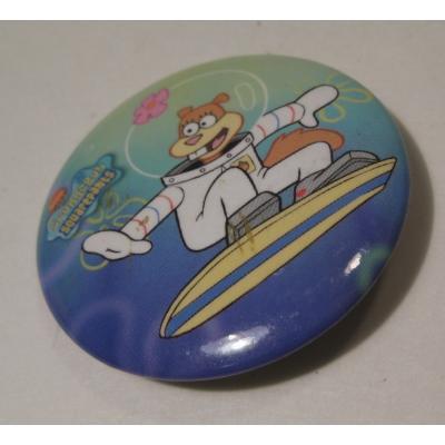 キャラクター ビンテージ・キャラクター缶バッチ「スポンジボブ&サンディ」