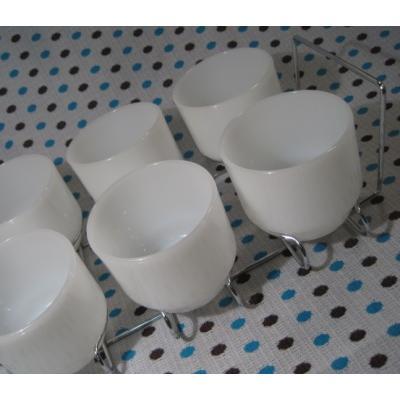 アンカーホッキング・ディナーウェアーシリーズ・ホワイトカップ6個セット・ラック付【画像9】