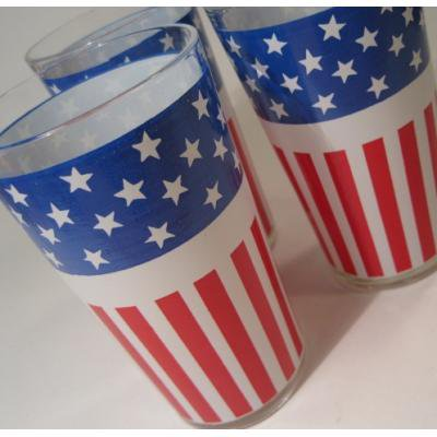 アメリカンフラッグ・ドリンキンググラス