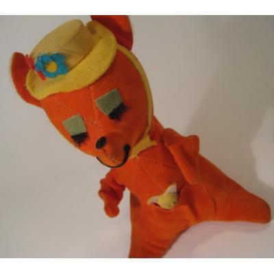 ビンテージドリームペッツ・Dream Pets・米国輸出用日本製「キャリー(オレンジカンガルーと赤ちゃん)」