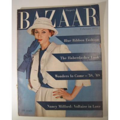 ファッション ビンテージマガジン「1958年2月号Bazaar・バザー」