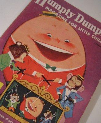 子供用マガジン ビンテージ子供用マガジン「1958年2月・Humpty Dumpty's Magazine for Little Children」