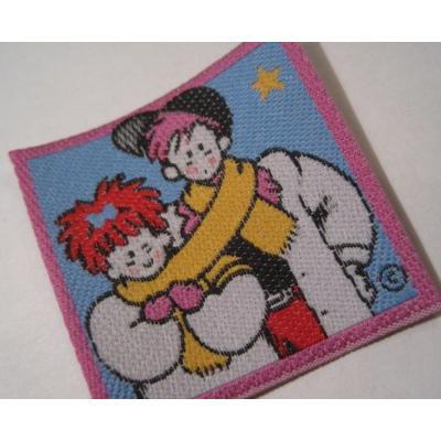 ハンドメイド用タグ&パッチ&アップリケ&ワッペン ビンテージ・デッドストック・刺繍タグ「80sカップル」