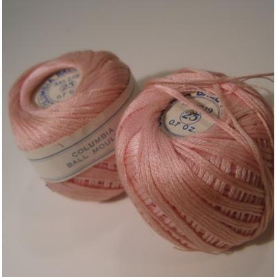 シーツ&ハンドメイド素材 米国製・Columbia Ball Mouline・ライトピンク・刺繍用スレッドスプール