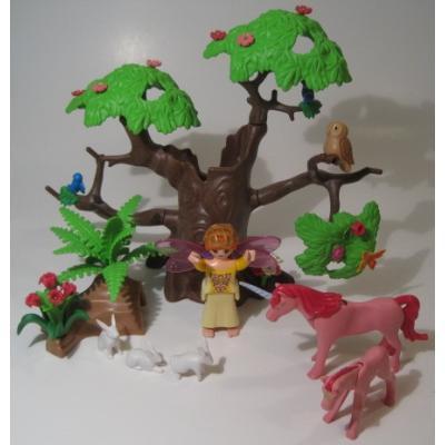 レゴ・プレイモビル・フィッシャープライスフィギュアなど ユーズド・Playmobil・プレイモービル・5762 Magical ユニコーン・フォーレストセット