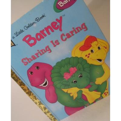 バーニー&テレタビーズ ビンテージ絵本「a Little Golden Book・Barney Sharing Is Caring」バーニー