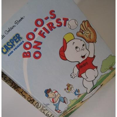 キャラクター ビンテージ絵本「a Little Golden Book・Casper and Friends, Boo-O-S on First」キャスパー