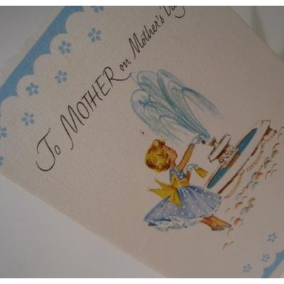 オーナメント&デコレーション ビンテージカード・未使用・封筒付・「To Mother on Mother's Day」お母さん【母の日】