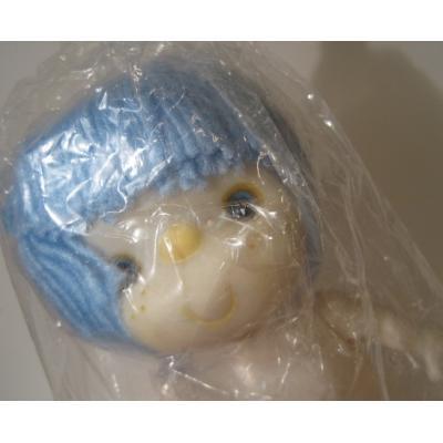 お人形 未使用・未開封・クラフト用・青の髪の毛のお人形