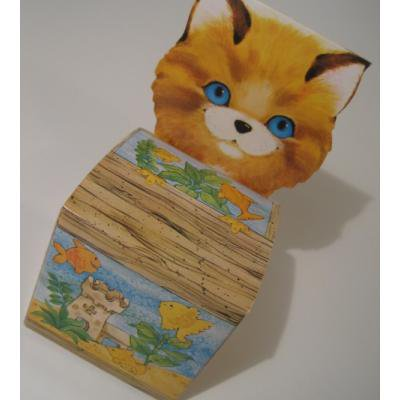 ラッピングペーパー・ギフトバッグなど 紙製・ネコちゃんと水槽デザイン・ギフトボックス