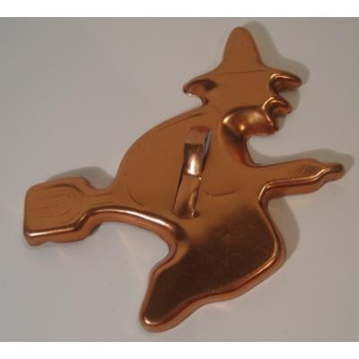 他行事 ハロウィン用コッパーカラー・魔女・アルミ製クッキーカッター