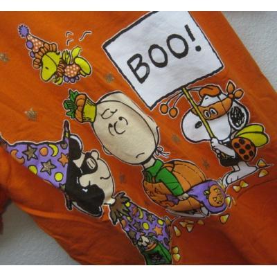 【男性XXL】ハロウィンの仮装のスヌーピーと仲間たち・ビッグTシャツ【画像9】