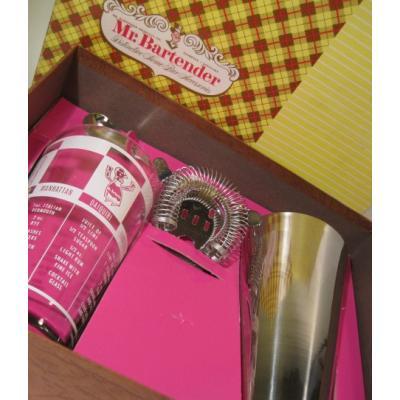 アメリカンミルクグラスブランド デッドストック・オリジナルボックス入り・Mr. Bartender・シェイカーグラス&ツールセット