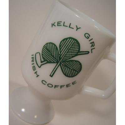 マグ フェデラル・Kelly Girl Irish Coffee・クローバー・フッテッドマグ【A】