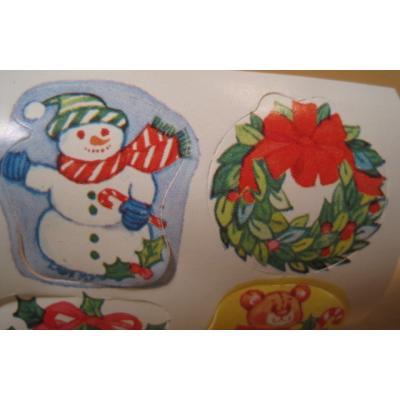ジャンク雑貨 ビンテージ・クリスマスシールセット