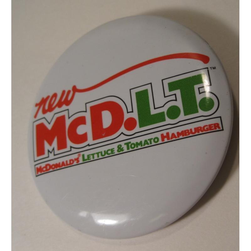 ビンテージTIN缶バッチ・マクドナルド・New McD.L.T.【画像2】