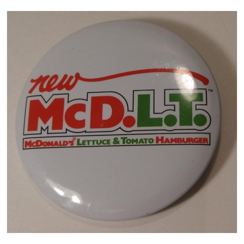 ビンテージTIN缶バッチ・マクドナルド・New McD.L.T.【画像3】