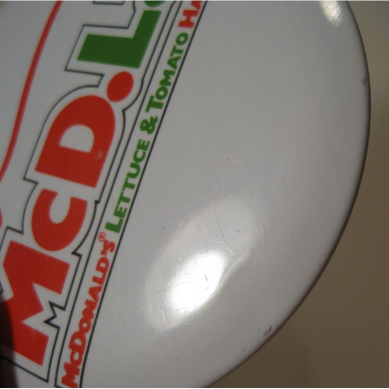ビンテージTIN缶バッチ・マクドナルド・New McD.L.T.【画像5】