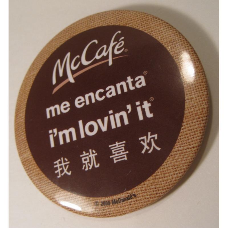 ビンテージTIN缶バッチ・マクドナルド・McCafe・インターナショナル【画像2】