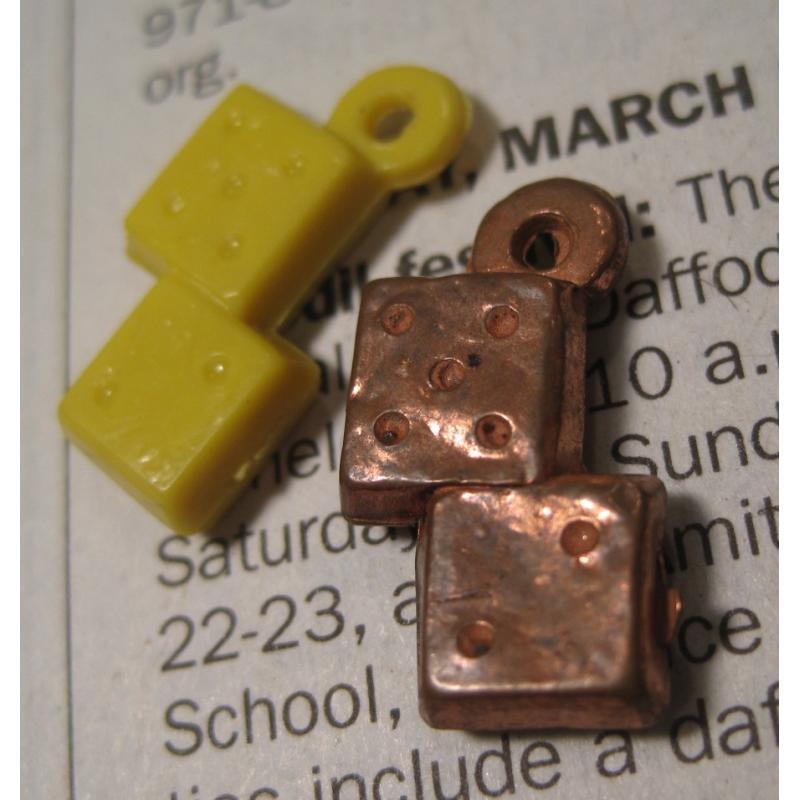 クラッカージャック・おまけ・プラスチックチャーム・Cracker Jack Trinket Prizes・ダイス2個セット