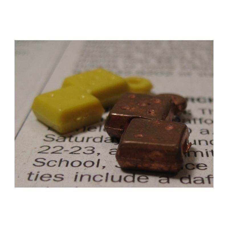 クラッカージャック・おまけ・プラスチックチャーム・Cracker Jack Trinket Prizes・ダイス2個セット【画像3】
