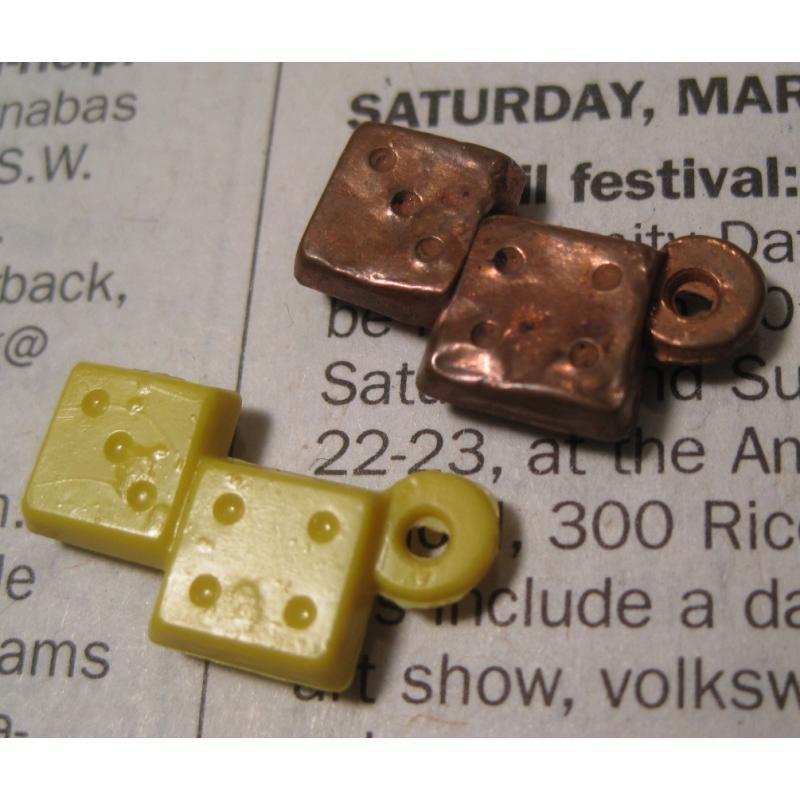 クラッカージャック・おまけ・プラスチックチャーム・Cracker Jack Trinket Prizes・ダイス2個セット【画像5】