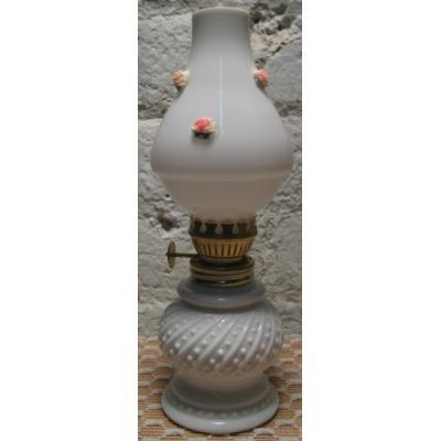 直近のソールドアウト 米国輸出用・日本製・ミルクグラス&ピンクローズ・オイルランプ