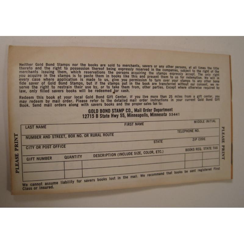 1930s〜1950s・ビンテージ・ショッピングスタンプブック・Gold Bond【画像3】