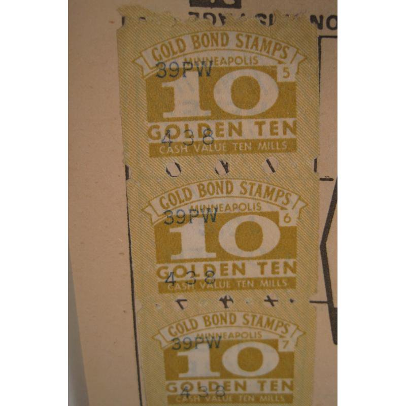 1930s〜1950s・ビンテージ・ショッピングスタンプブック・Gold Bond【画像5】