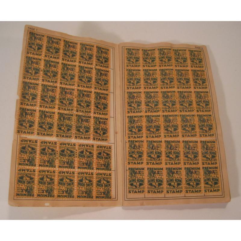 1930s〜1950s・ビンテージ・ショッピングスタンプブック・King Korn Stamps【B】【画像5】